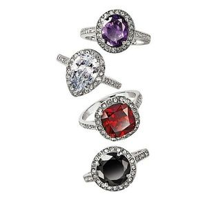 Cz Halo Cocktail Ring